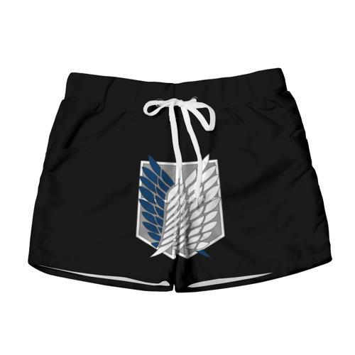 Женские шорты 3D  Фото 01, Атака Титанов (эмблема) #5