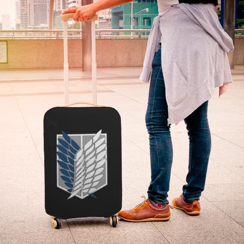 Чехол для чемодана 3D Атака Титанов (эмблема) #5 Фото 01