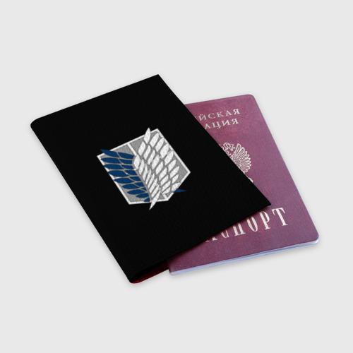 Обложка для паспорта матовая кожа Атака Титанов (эмблема) #5 Фото 01