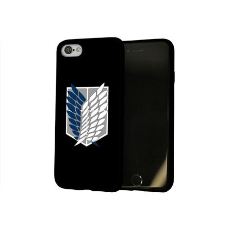Чехол для Apple iPhone 8 силиконовый глянцевый Атака Титанов (эмблема) #5 Фото 01