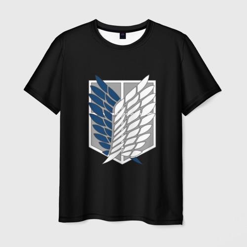 Мужская футболка 3D  Фото 01, Атака Титанов (эмблема) #5