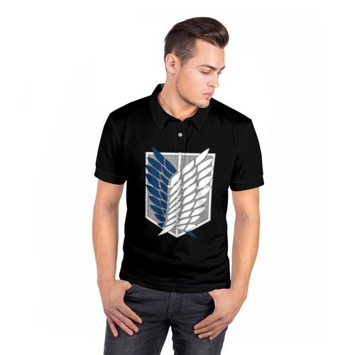 Мужская рубашка поло 3D  Фото 05, Атака Титанов (эмблема) #5
