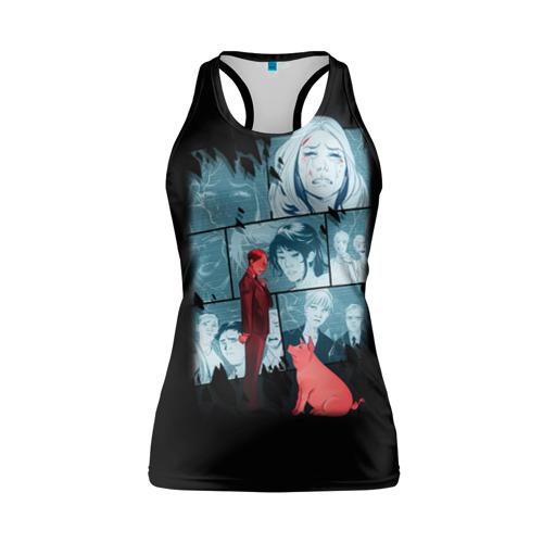 Женская майка 3D спортивная Black Mirror Фото 01