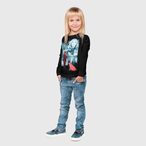 Детский лонгслив 3D Black Mirror Фото 01