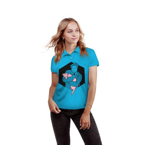 Женская рубашка поло 3D  Фото 03, Black Mirror
