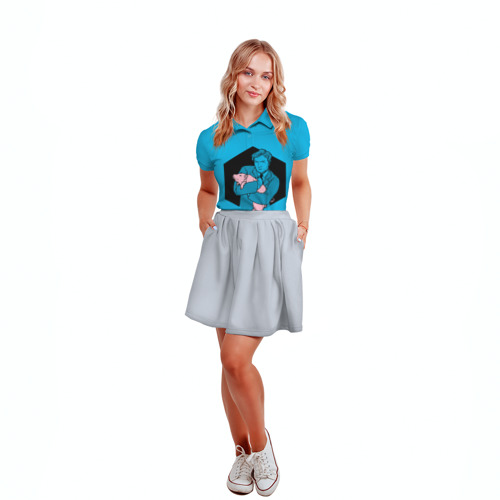 Женская рубашка поло 3D  Фото 04, Black Mirror