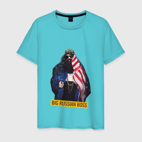 Мужская футболка хлопок Большой Русский Босс Фото 01