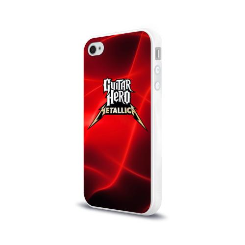 Чехол для Apple iPhone 4/4S силиконовый глянцевый  Фото 03, Guitar Hero Metallica