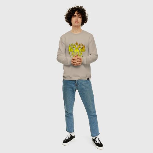 Мужской свитшот хлопок Витя в золотом гербе РФ Фото 01