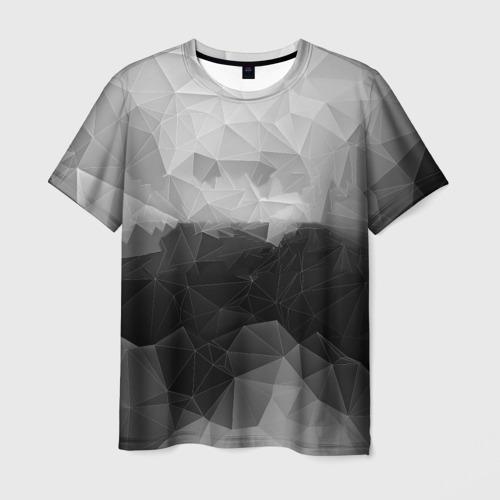 Мужская футболка 3D  Фото 03, Polygon gray