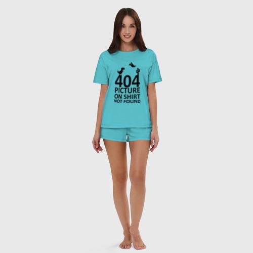 Женская пижама с шортиками хлопок 404 not found Фото 01