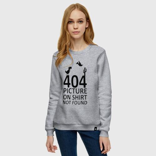 Женский свитшот хлопок 404 not found Фото 01