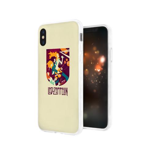 Чехол для Apple iPhone X силиконовый глянцевый  Фото 03, Led Zeppelin Art