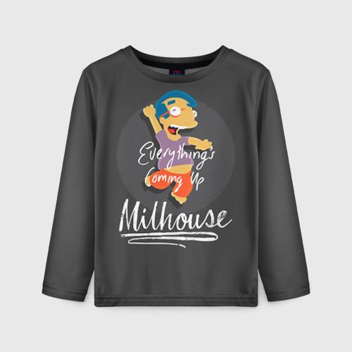 Детский лонгслив 3D Milhouse