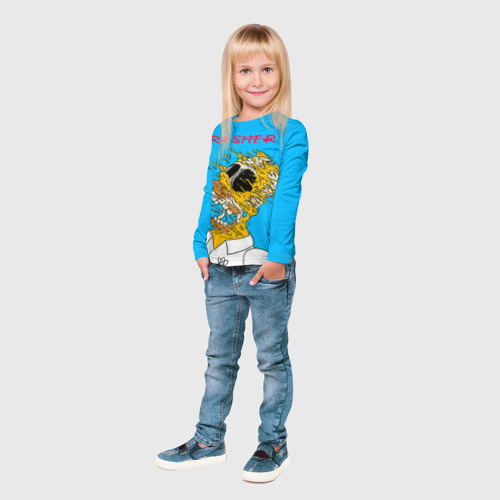 Детский лонгслив 3D  Фото 04, TRASHER