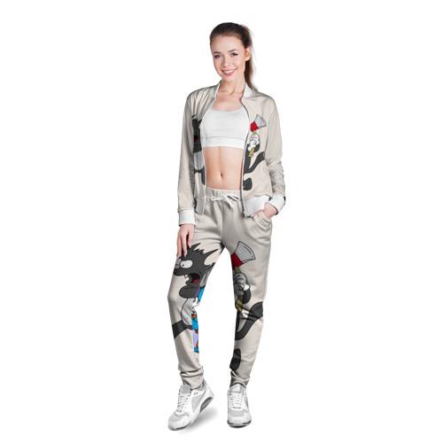 Женская олимпийка 3D  Фото 03, Itchy & Scratchy