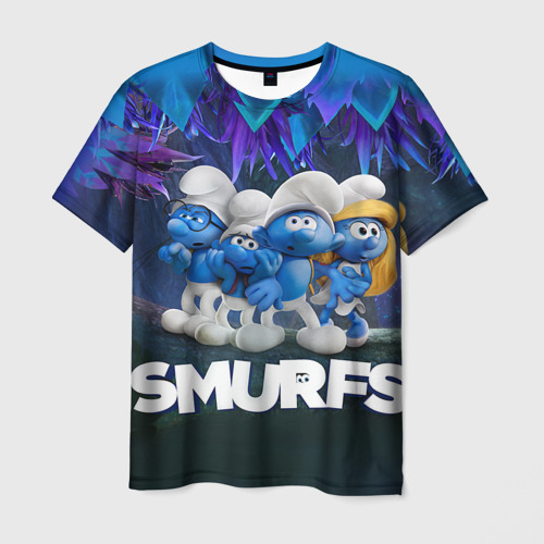 Мужская футболка 3D  Фото 01, The Smurfs