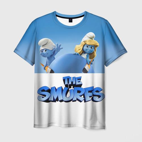 Мужская футболка 3D  Фото 03, The Smurfs