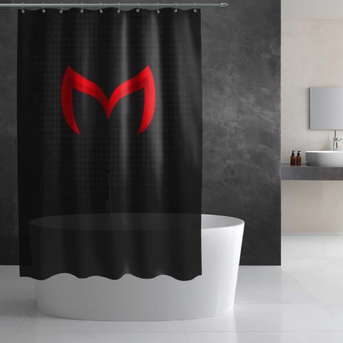 Штора 3D для ванной  Фото 02, New Mazda