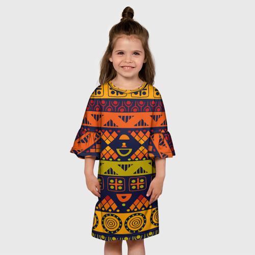 Детское платье 3D  Фото 01, Африканские символы