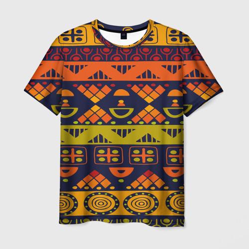 Мужская футболка 3D  Фото 03, Африканские символы