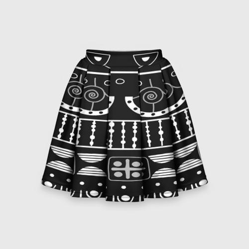 Детская юбка-солнце 3D  Фото 01, Black and White ethnic