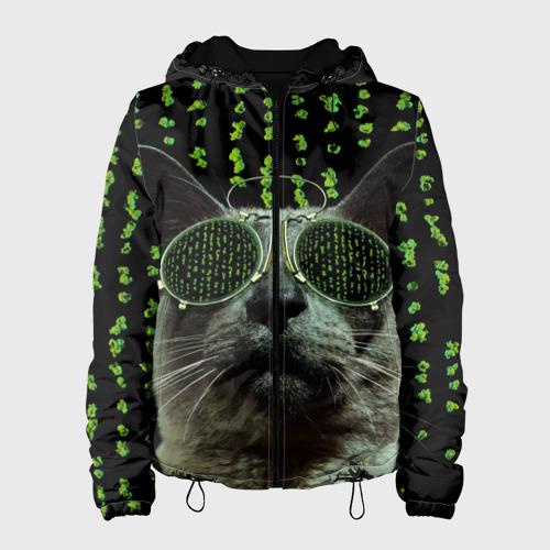 Женская куртка 3D  Фото 01, Кот в матрице