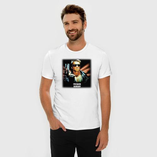 Мужская футболка премиум  Фото 03, Терминатор: Я уже вернулся