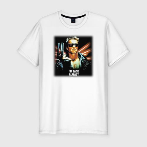 Мужская футболка премиум  Фото 01, Терминатор: Я уже вернулся