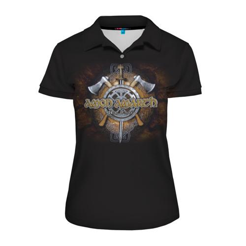 Женская рубашка поло 3D Amon Amarth #9