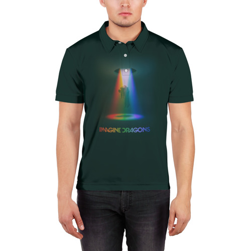 Мужская рубашка поло 3D  Фото 03, Imagine Dragons Light
