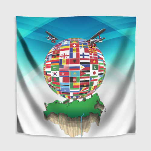 Скатерть 3D  Фото 02, Флаги