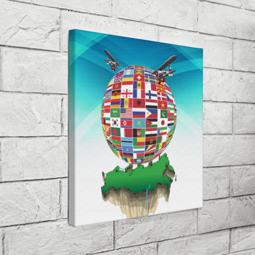 Холст квадратный  Фото 03, Флаги