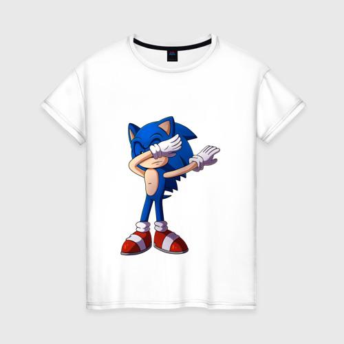 Женская футболка хлопок Sonic dab