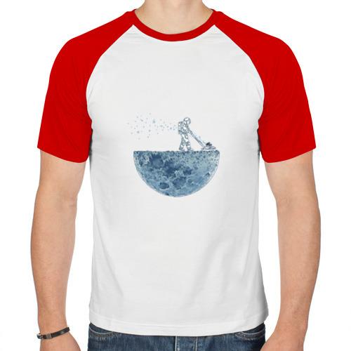 Мужская футболка реглан  Фото 01, Стрижет луну
