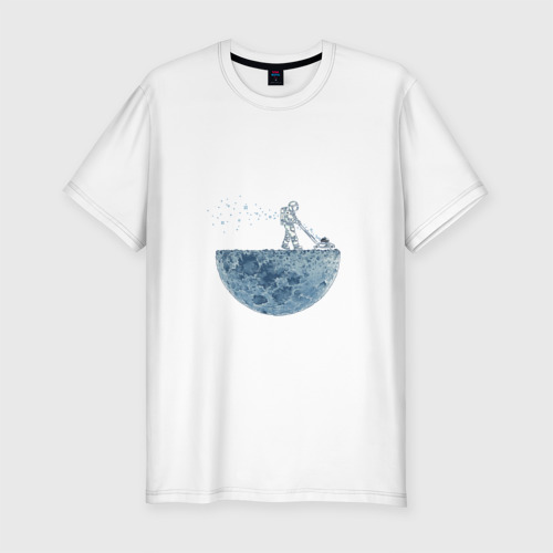 Мужская футболка премиум  Фото 01, Стрижет луну