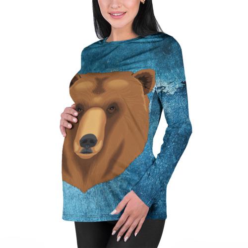 Женский лонгслив 3D для беременных  Фото 01, Медведь