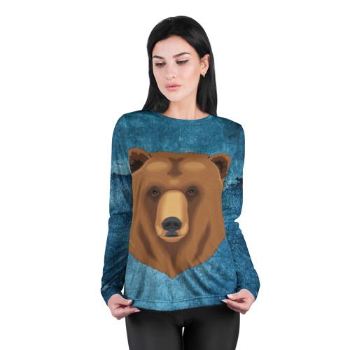Женский лонгслив 3D для беременных  Фото 04, Медведь