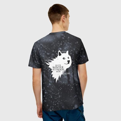 Мужская футболка 3D  Фото 02, Зима близко