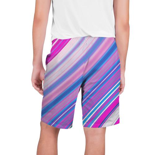 Мужские шорты 3D  Фото 02, Фиолетовые полоски