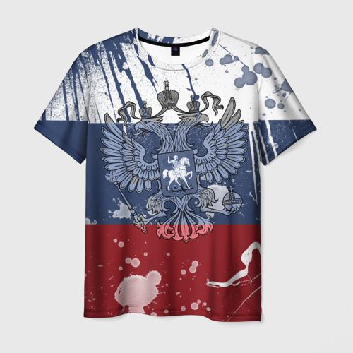 Мужская футболка 3D  Фото 01, Триколор и герб
