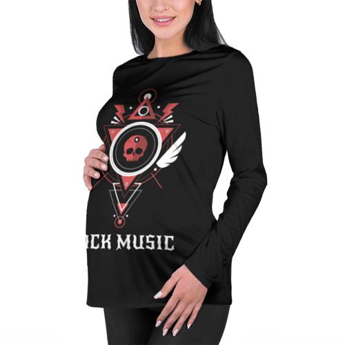 Женский лонгслив 3D для беременных  Фото 01, Rock Music