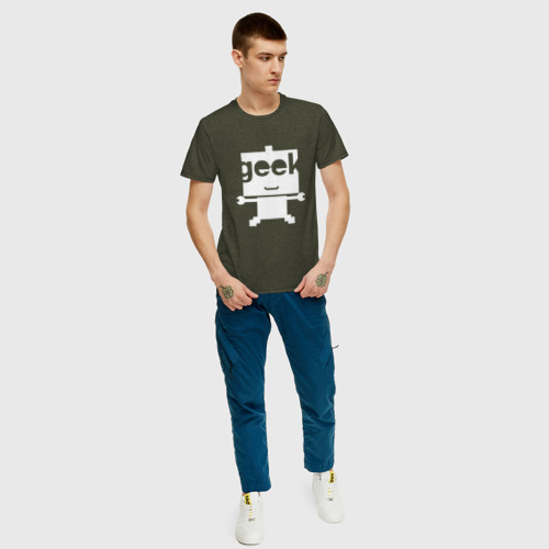 Мужская футболка хлопок Робот geek (компьютерщик) Фото 01