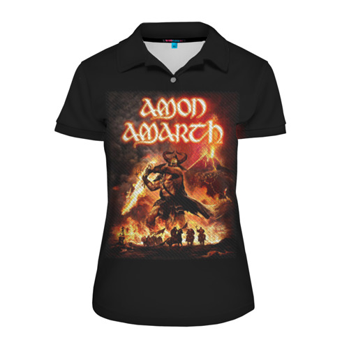 Женская рубашка поло 3D  Фото 01, AMON AMARTH