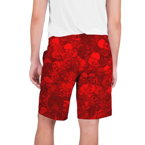 Мужские шорты 3D  Фото 02, Красные черепа