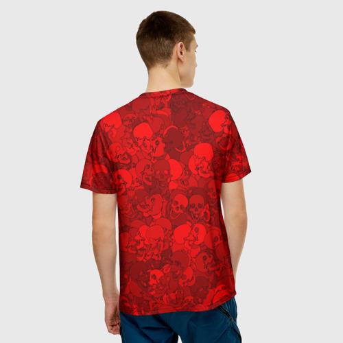 Мужская футболка 3D  Фото 02, Красные черепа