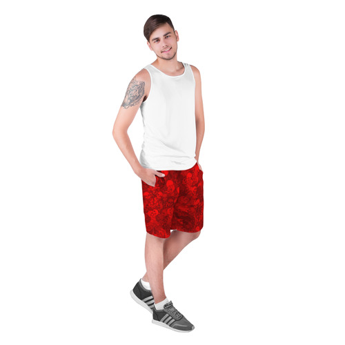 Мужские шорты 3D  Фото 03, Красные черепа
