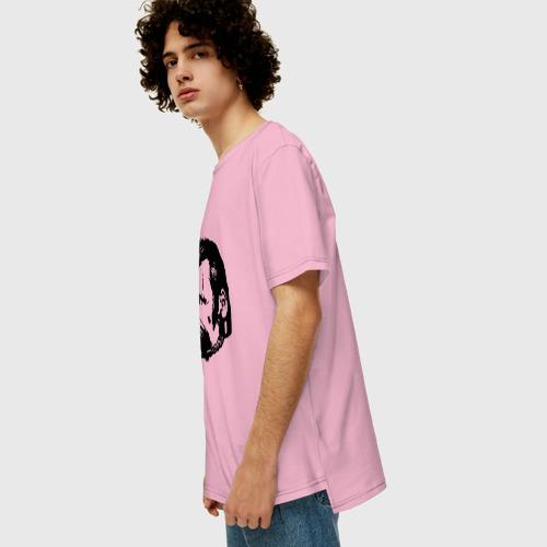 Мужская футболка хлопок Oversize Фридрих Ницше Безумие Фото 01