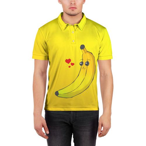 Мужская рубашка поло 3D  Фото 03, Just Banana (Yellow)