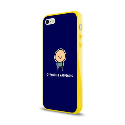 Чехол для Apple iPhone 5/5S силиконовый глянцевый Cyanide & Happiness Фото 01